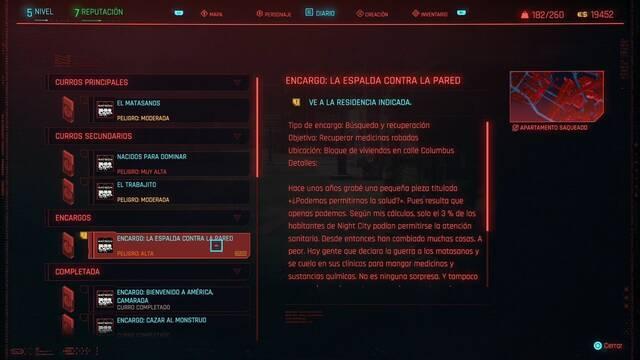 La espalda contra la pared en Cyberpunk 2077 al 100%