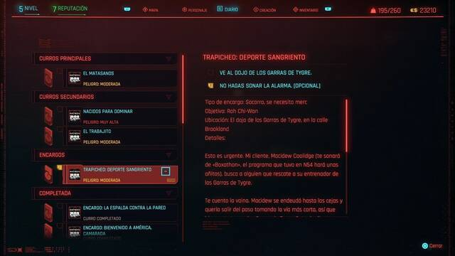 Deporte sangriento en Cyberpunk 2077 al 100%