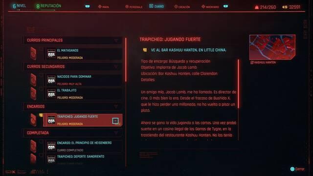 Jugando fuerte en Cyberpunk 2077 al 100%