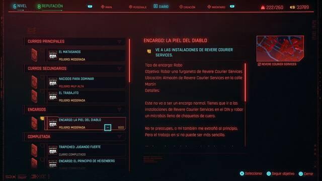 La piel del diablo en Cyberpunk 2077 al 100%