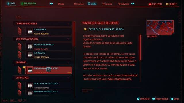 Gajes del oficio en Cyberpunk 2077 al 100%