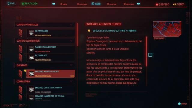 Asuntos sucios en Cyberpunk 2077 al 100%