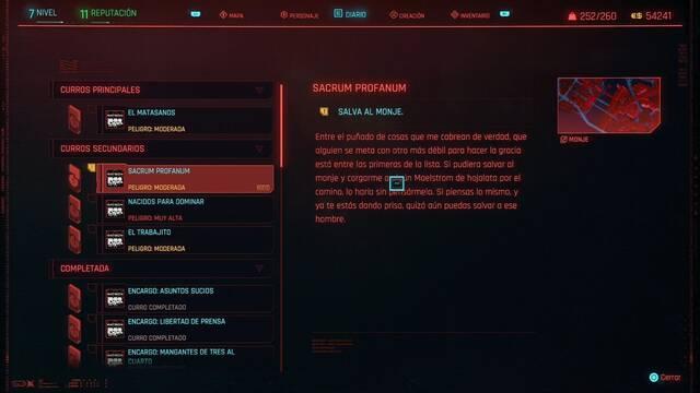 Sacrum profanum en Cyberpunk 2077 al 100%
