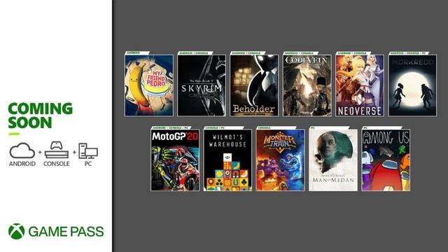 Xbox Game Pass novedades diciembre 2020 The Game Awards Skyrim Among Us