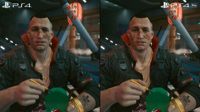 Cyberpunk 2077 PS4 Pro rendimiento comparativa gráficos