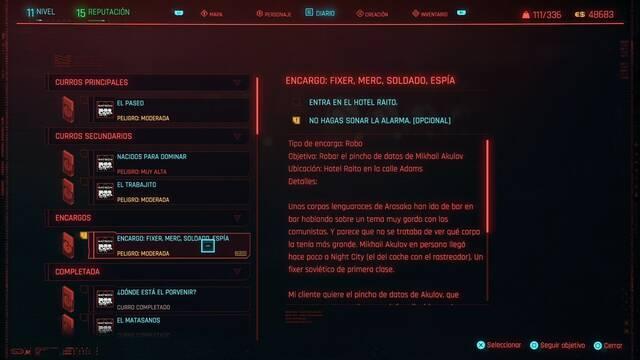 Fixer, merc, soldado, espía en Cyberpunk 2077 al 100%