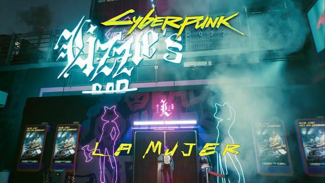 La mujer en Cyberpunk 2077 al 100%