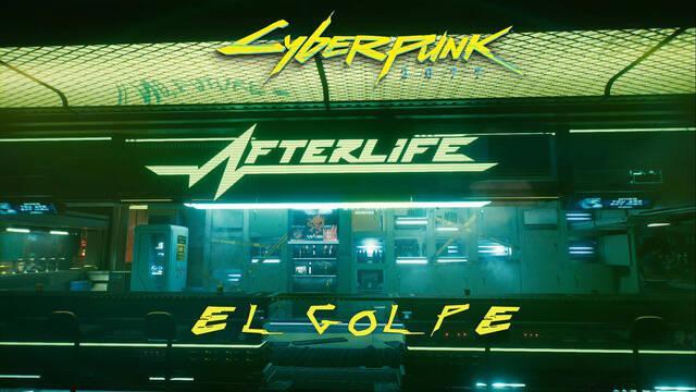 El golpe en Cyberpunk 2077 al 100%