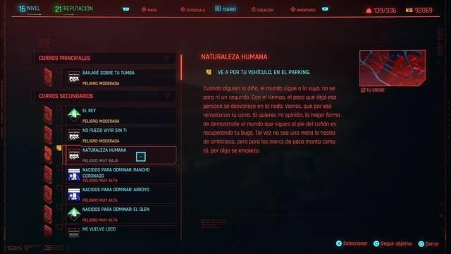 Naturaleza humana  en Cyberpunk 2077 al 100%