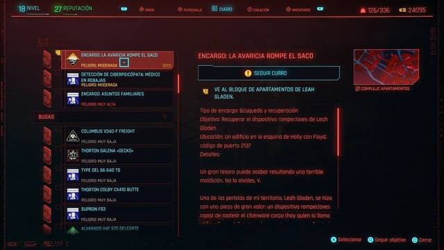 La avaricia rompe el saco en Cyberpunk 2077 al 100%