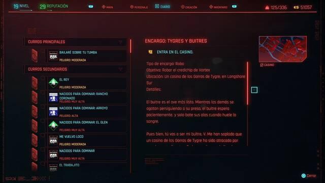Tygres y buitres en Cyberpunk 2077 al 100%