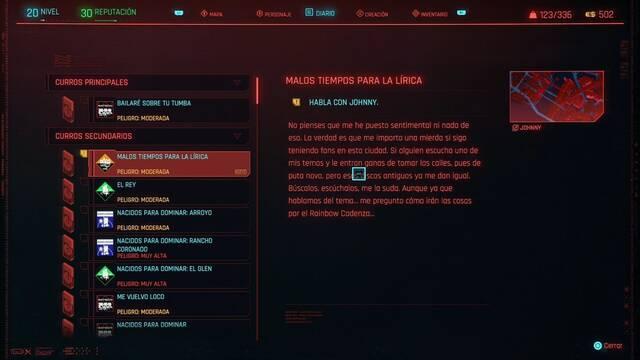 Malos tiempos para la lírica en Cyberpunk 2077 al 100%