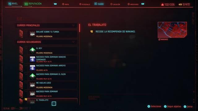 El trabajito en Cyberpunk 2077 al 100%