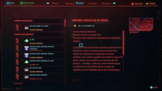Conejillos de indias en Cyberpunk 2077 al 100%