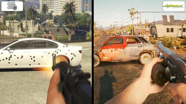 GTA 5 y Cyberpunk 2077, comparación