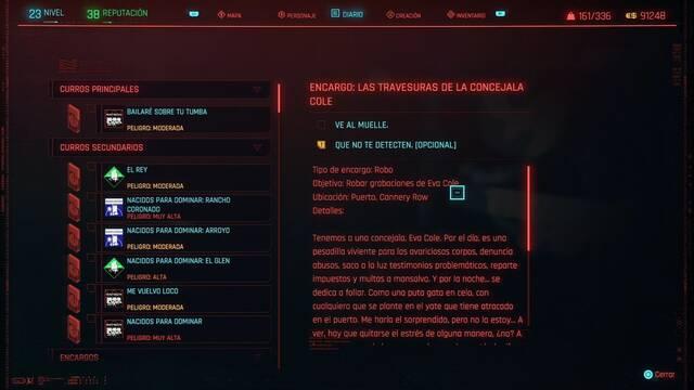 Las travesuras de la concejala Cole en Cyberpunk 2077 al 100%