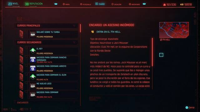 Un asesino incómodo en Cyberpunk 2077 al 100%