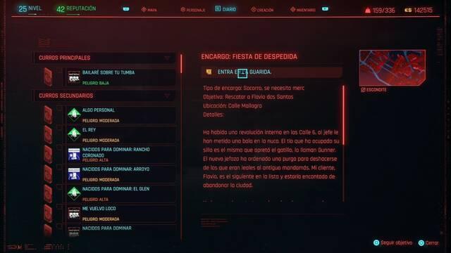 Fiesta de despedida en Cyberpunk 2077 al 100%