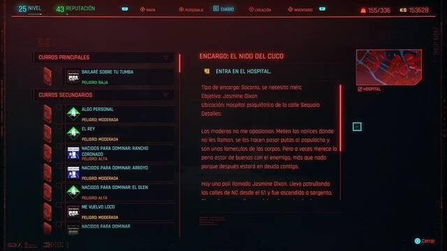 El nido del cuco en Cyberpunk 2077 al 100%