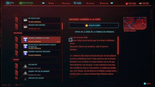 Carrera a la cima en Cyberpunk 2077 al 100%