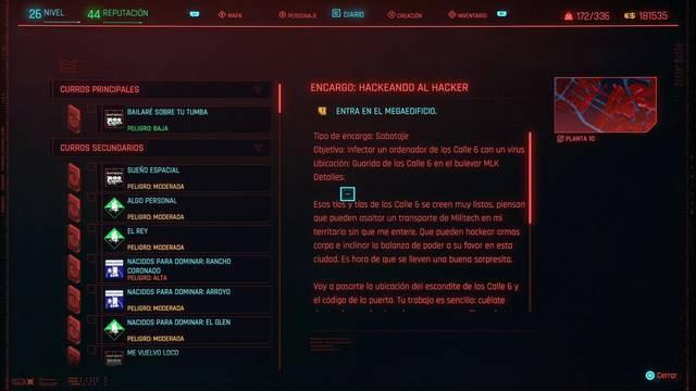 Hackeando al hacker en Cyberpunk 2077 al 100%