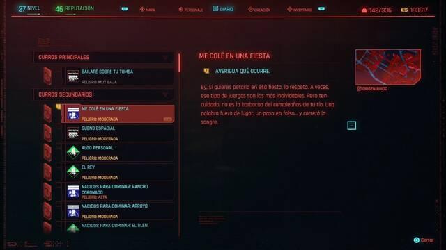 Me colé en una fiesta en Cyberpunk 2077 al 100%