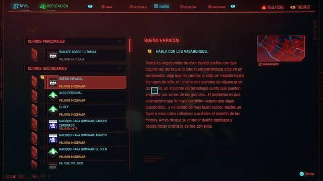 Sueño espacial en Cyberpunk 2077 al 100%