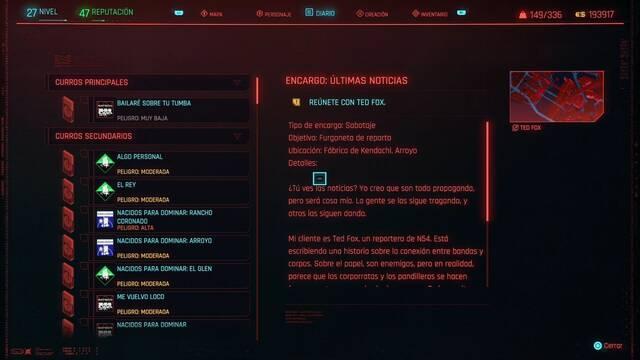 Últimas noticias en Cyberpunk 2077 al 100%