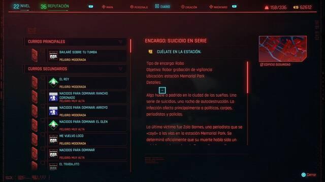 Suicidio en serie en Cyberpunk 2077 al 100%