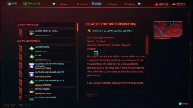 El sindicato contraataca en Cyberpunk 2077 al 100%