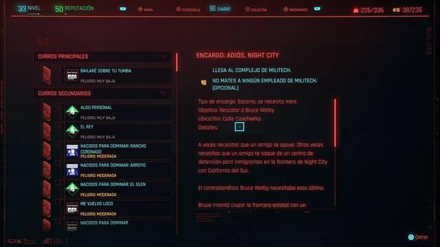 Adiós, Night City en Cyberpunk 2077 al 100%