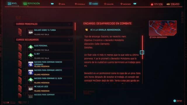 Desaparecido en combate en Cyberpunk 2077 al 100%