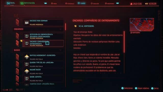 Compañero de entrenamiento en Cyberpunk 2077 al 100%