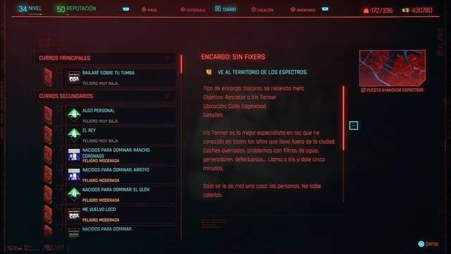 Sin fixers en Cyberpunk 2077 al 100%