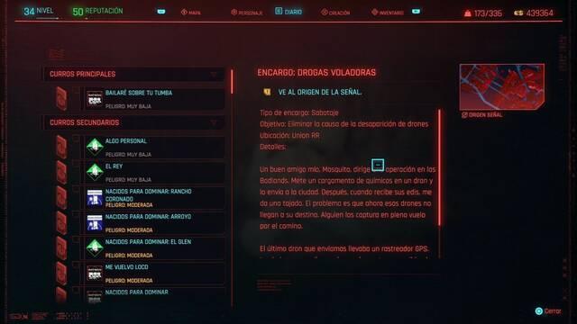 Drogas voladoras en Cyberpunk 2077 al 100%