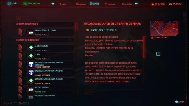 Bailando en un campo de minas en Cyberpunk 2077 al 100%