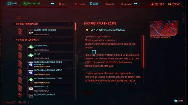 Atar en corto en Cyberpunk 2077 al 100%