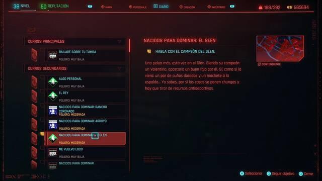 Nacidos para dominar: el Glen en Cyberpunk 2077 al 100%