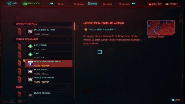 Nacidos para dominar: Arroyo en Cyberpunk 2077 al 100%
