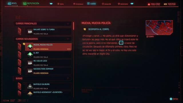 Mucha, mucha policía en Cyberpunk 2077 al 100%