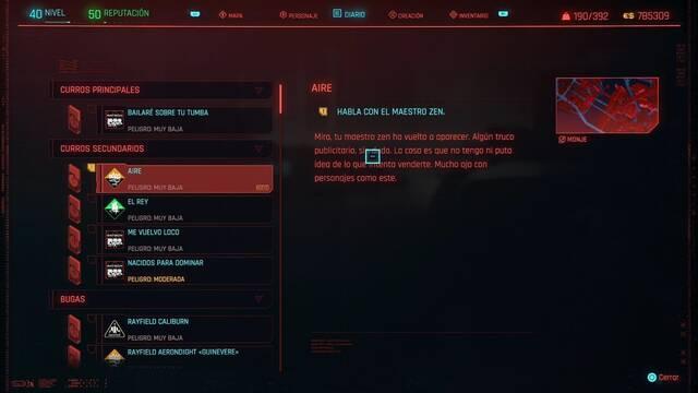 Aire en Cyberpunk 2077 al 100%