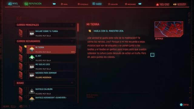 Mi tierra en Cyberpunk 2077 al 100%