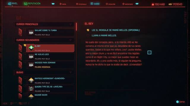 El rey en Cyberpunk 2077 al 100%
