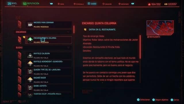 Quinta columna en Cyberpunk 2077 al 100%
