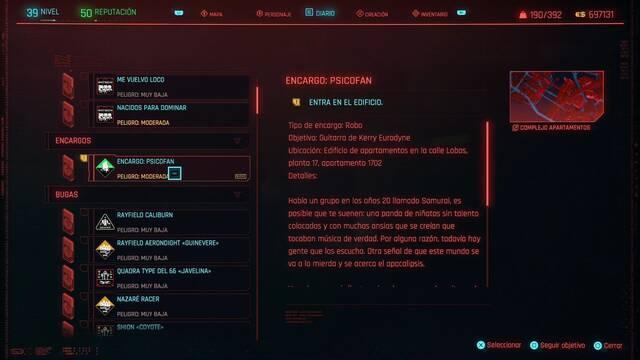 Psicofan en Cyberpunk 2077 al 100%