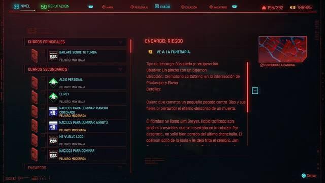 Riesgo en Cyberpunk 2077 al 100%