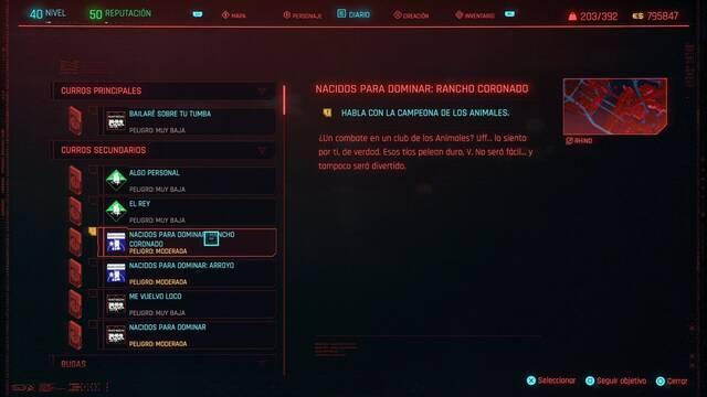 Nacidos para dominar: Rancho Coronado en Cyberpunk 2077 al 100%