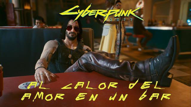 Al calor del amor en un bar en Cyberpunk 2077 al 100%
