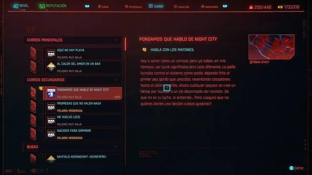 Pongamos que hablo de Night City en Cyberpunk 2077 al 100%