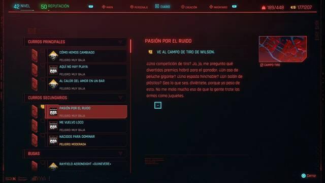 Pasión por el ruido en Cyberpunk 2077 al 100%